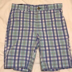 Johnnie-O plaid boys shorts size 14